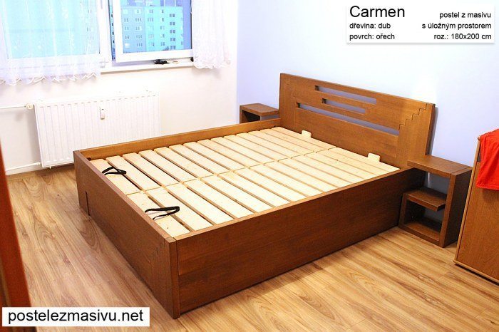 Vůně dřeva v ložnici - postele z masivu