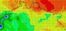Na severu Čech ve čtvrtek napršelo ojediněle až 80litrů vody