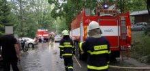 Na Zlínsku řádila bouřka, u Luhačovic padaly stromy
