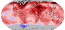Rok 2017 byl třetí nejteplejší v historii měření