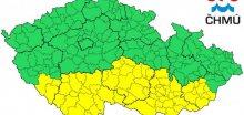 V jižní polovině České republiky bude vydatně pršet