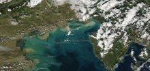 Severní Itálii zasáhly povodně, které šly vidět i z družice