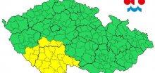 Jižní polovinu Čech zasáhnou místy vydatné srážky