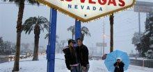 V Las Vegas napadlo nejvíc sněhu za 30 let