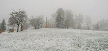 V jižních Čechách přes noc napadl nový sníh
