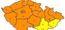 V Čechách silný vítr, na Moravě silné sněžení