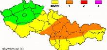 Na Moravě hrozí přívalové srážky i krupobití