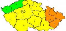 Na Moravě hrozí povodně, ojediněle 2.SPA