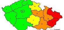 Na Moravě a ve Slezsku hrozí povodně