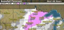 Na USA se žene další sněhová bouře Orko, místy napadne 40cm