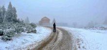 V Krušných horách na Klínovci měli odpoledne 10cm sněhu