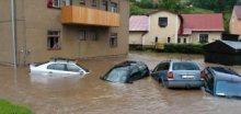 Fotografie povodní z Trutnovska v oblasti Krkonoš