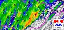 Při nočních bouřkách napršelo v Přerově až 66,8mm srážek