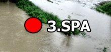 ČHMÚ vydal upozornění na povodně, hladiny překročí 3.SPA