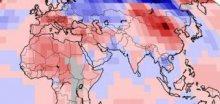 Leden 2014 byl rekordně teplý nad pevninami