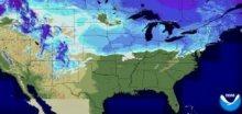 V prvních únorových dnech severovýchod USA zasáhlo sněžení