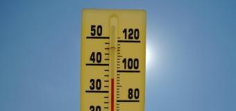 Pozor na vysoké teploty, které mohou vystoupat nad 34°C