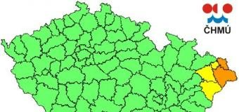 Na SV Moravě budou stoupat hladiny řek, ojediněle na 3.SPA