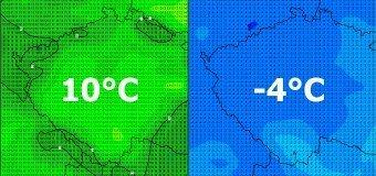 Dnes na horách až 10°C, v neděli za studenou frontou -4°C