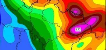 V oblasti Beskyd může do pátka napršet až 100mm srážek
