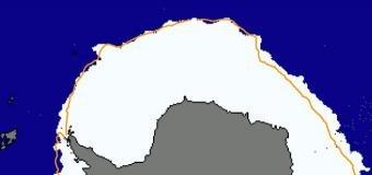 Rozloha mořského ledu je rekordně největší na Antarktidě